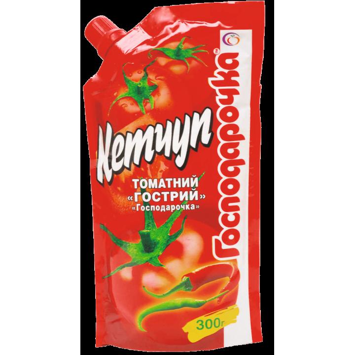 """Кетчуп томатний гострий """"Господарочка"""" дой-пак 300 г (4820024793445)"""
