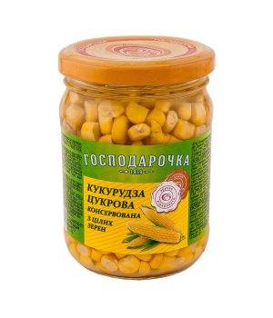 "Кукурудза цукрова ""Господарочка"" консервована із цілих зерен с/б 250 г  (4820024793551)"