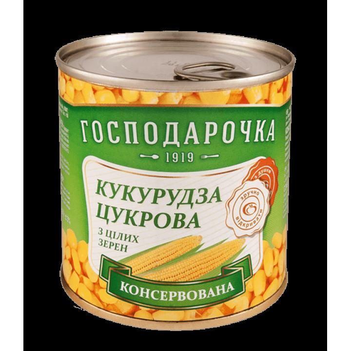 "Кукурудза цукрова ""Господарочка"" консервована із цілих зерен ж/б 420 г (4820024798235)"