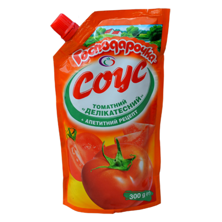 "Соус томатний ""Господарочка"" Делікатесний дой-пак 300 г (4820024793384)"