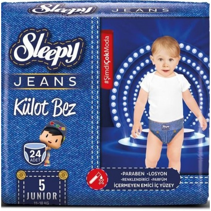 Підгузки-трусики Sleepy Jeans Jumbo Junior 11-18 кг 24шт.  (8681212064893)