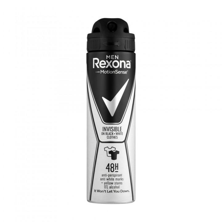 Дезодорант-антиперспірант Rexona Невидимий на чорному і білому 150 мл (8717163663516)