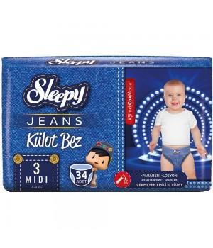 Підгузки-трусики Sleepy Jeans Jumbo midi 4-9 кг 34шт. (8681313062882)