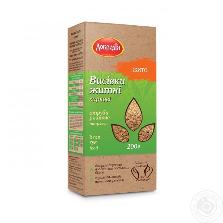 Висівки житні харчові Добродія 200 г (4820182200212)