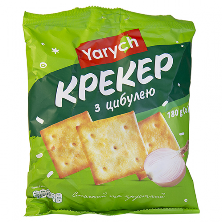 Крекер Yarych З цибулею 180 г (4820154480215)