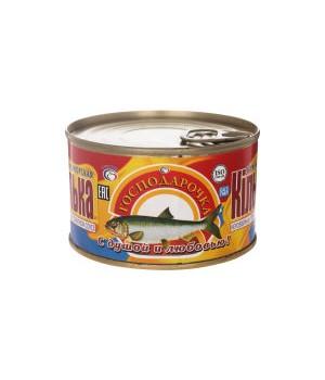 Кілька чорноморська в томатному соусі Господарочка 240г (4820024798440)