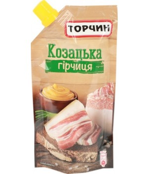 """Гірчиця """"Торчин"""" Козацька дой-пак 130 г (4820001314342)"""