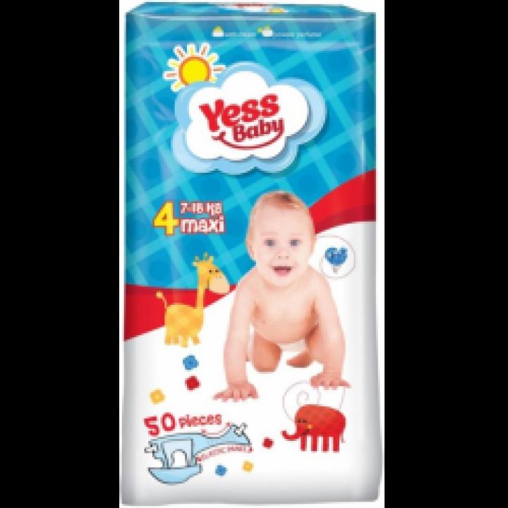Підгузки Yess Baby Jumbo Maxi 7-18 кг 50шт.