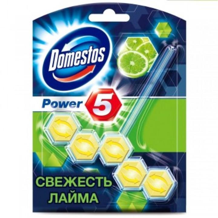 Туалетний блок для унітаза Domestos Power 5 Свіжість лайма 55 г (8710908551147)