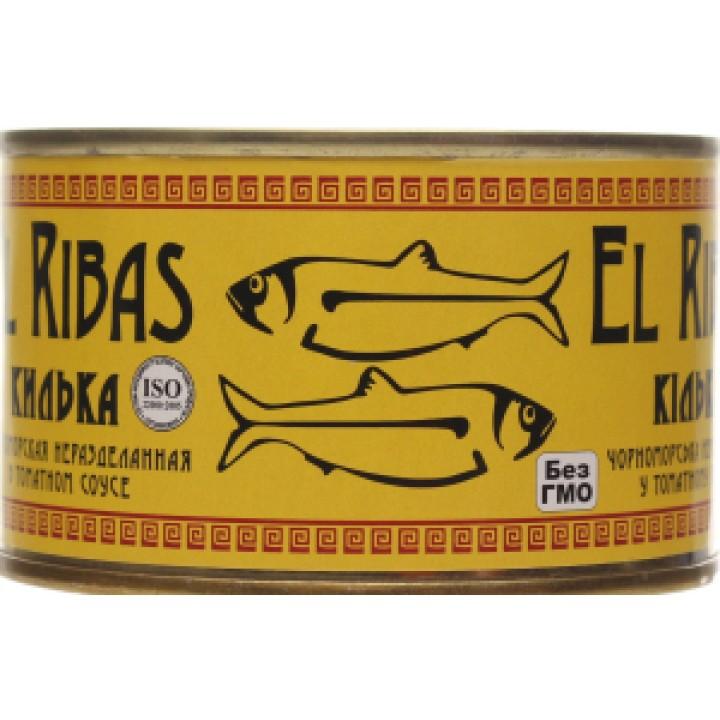 Кілька чорноморська в томатному соусі EL RIBAS №5 240г (4820143190170)