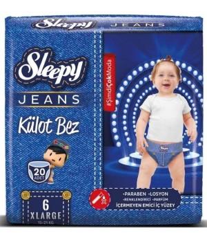 Підгузки-трусики Sleepy Jeans Jumbo X Large 15-25 кг 20шт. (8681212064909)