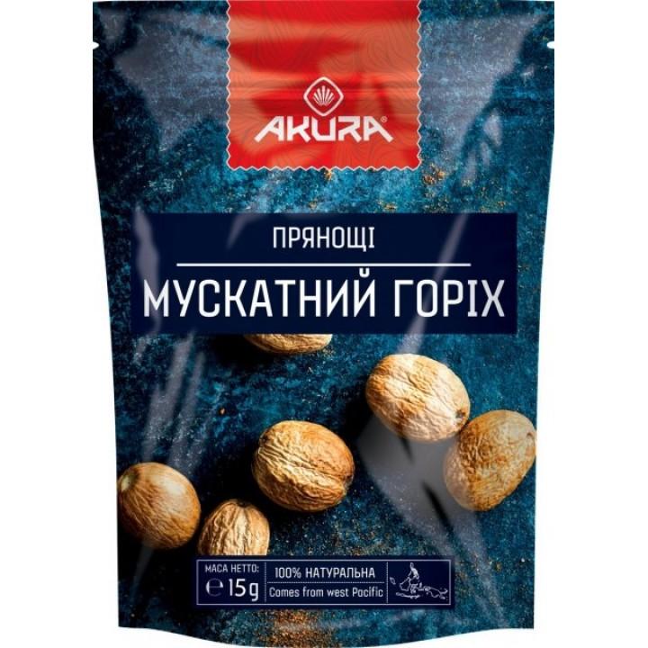 Спеції Мускатний горіх AKURA, цілий 15 г (4820178462273)