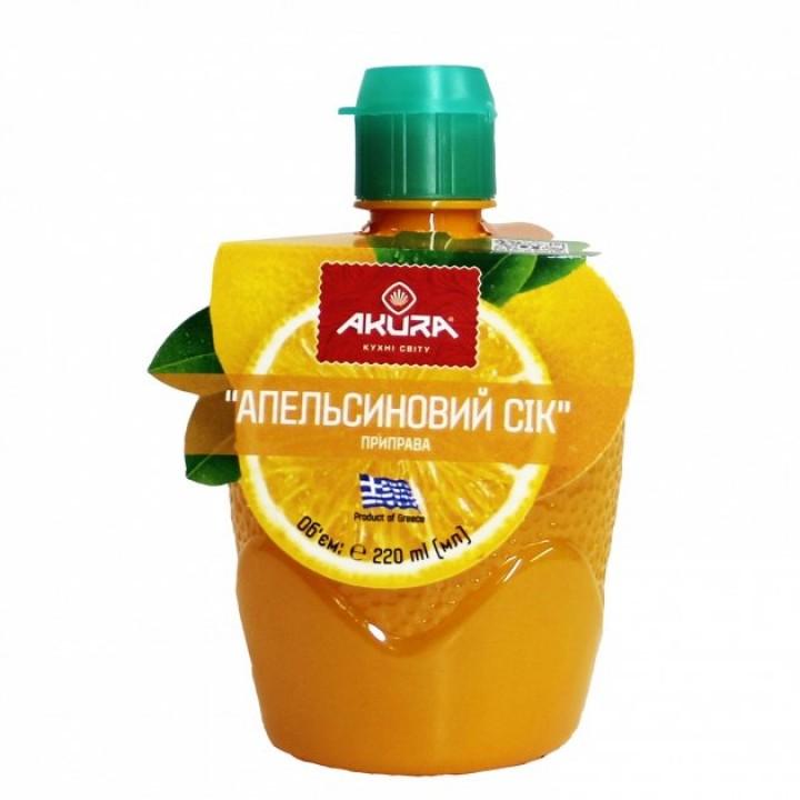 Приправа Апельсиновий сік AKURA, 220 мл (5202737770880)