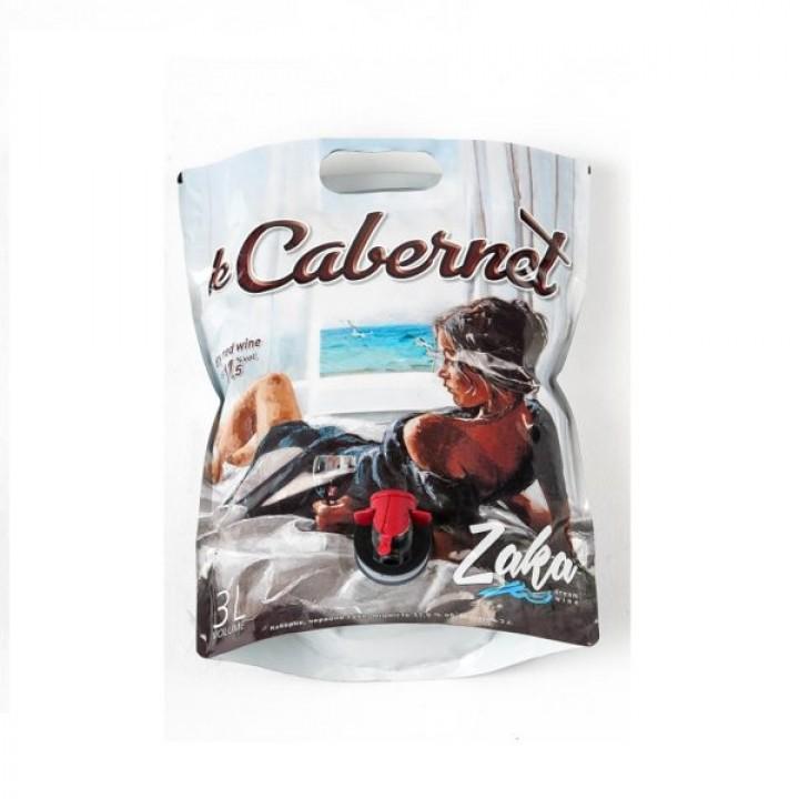 Вино Zaka Cabernet червоне сухе 3 л (4820238710719)