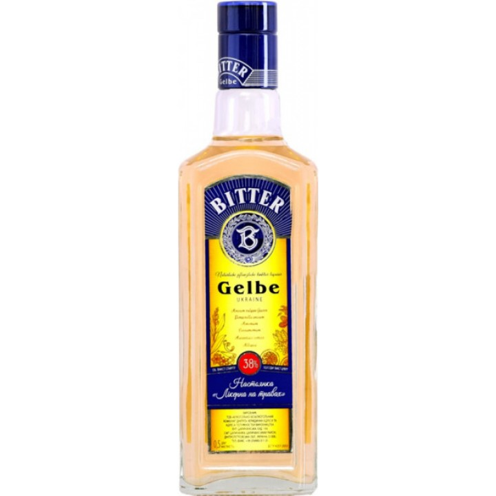 Настойка Ликерная на травах Gelbe Bitter 0.5 л 38% (4820136352554)