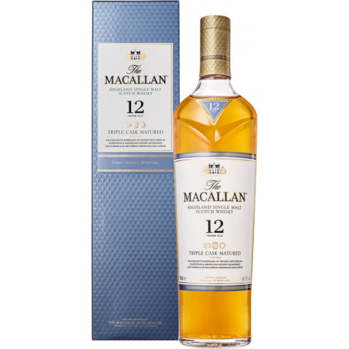 Віскі The Macallan Triple Cask 12 YO 0.7 л 40% (5010314048907)