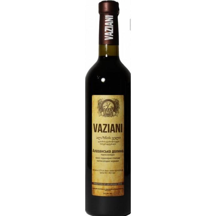 Вино Вазіані Алазанськая долина червоне напівсолодке 0.75 л 9-14% (4820220040107)