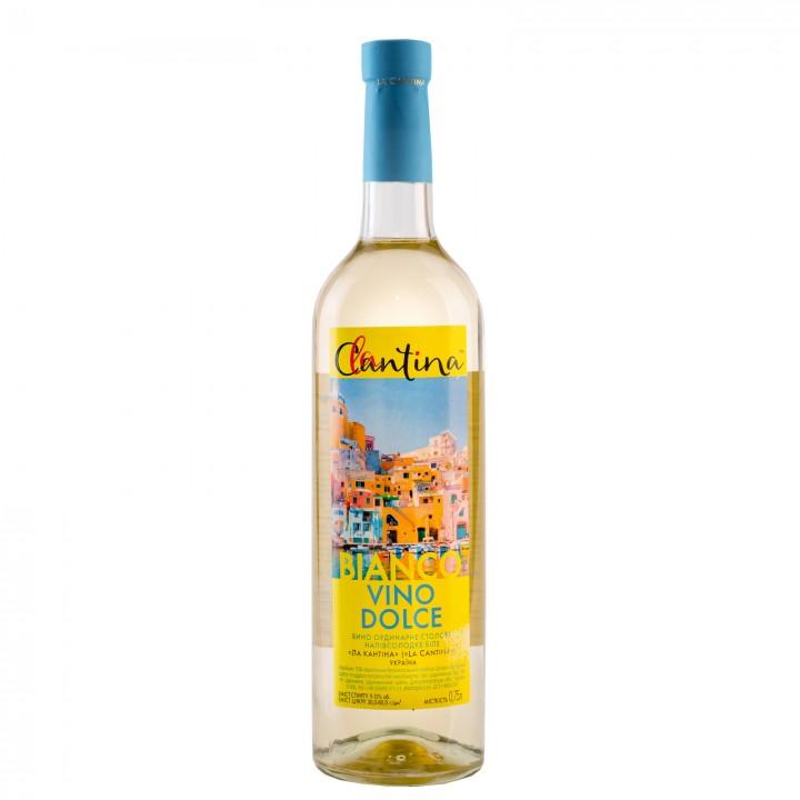 Вино La Cantina Vino Dolce Bianco біле напівсолодке 9-13% 0.75 л (4820136353193)