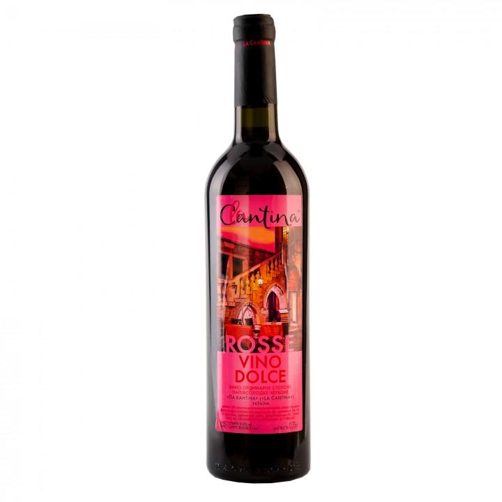 Вино La Cantina Vino Dolce Rosse червоне напівсолодке 9-13% 0.75 л (4820136353216)