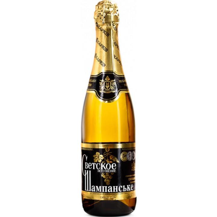 Вино ігристе Світське Спокуса біле солодке 0.75 л 10.5-12.5% (4820009175839)