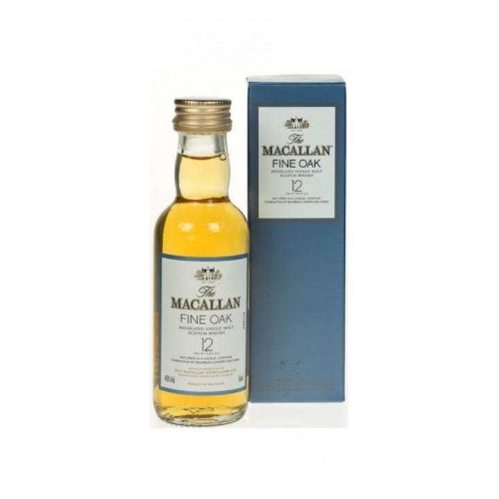 Віскі Macallan Fine Oak 12 років витримки 0.05 л 40% (5010314049102)