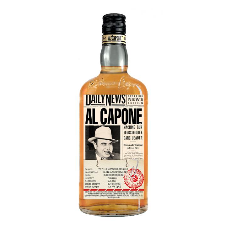 Алкогольний напій AL CAPONE односолодовий 0.5 л 40% (4820136352202)