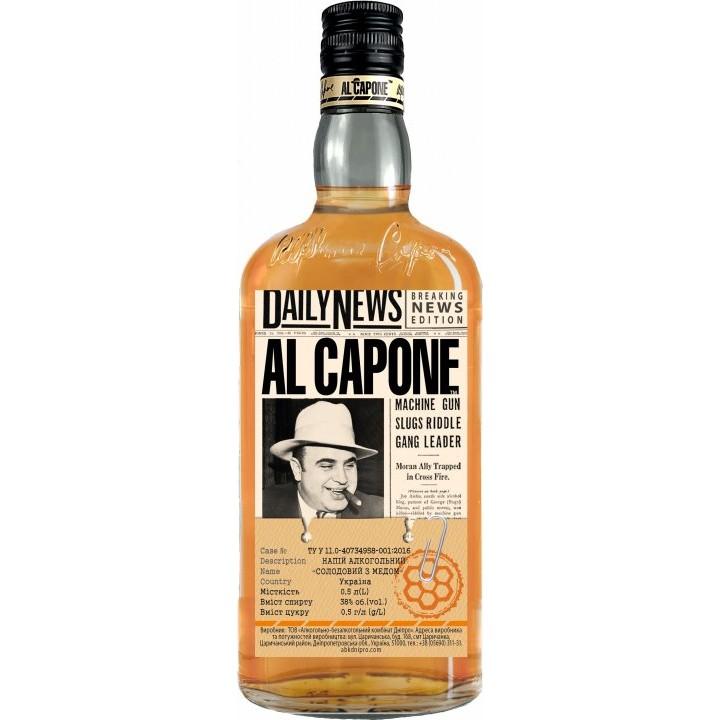 Напій алкогольний AL CAPONE Солодовий з медом 0.5 л 38% (4820136353124)