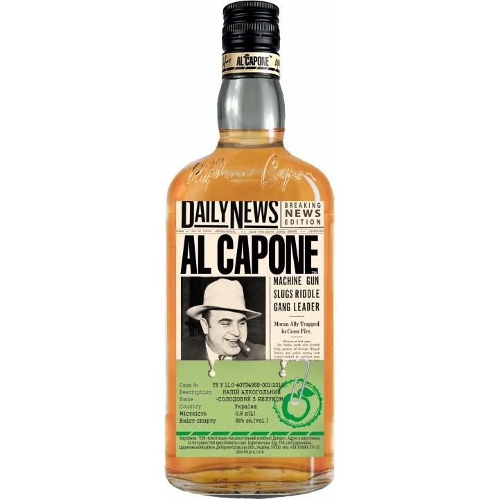 Напій алкогольний AL CAPONE Солодовий з яблуком 0.5 л 38% (4820136353148)