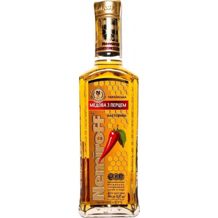 Настоянка Nemiroff Українська медова з перцем 0.37 л 40% (4820181420888)