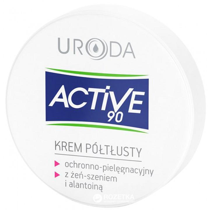Напівжирний крем для обличчя Uroda Active 90 для захисту і догляду 50 мл
