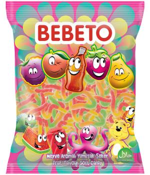 """Цукерки жувальні Bebeto """"Цукрова змія"""" 1 кг (8690146632917)"""