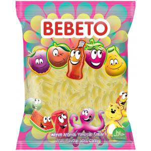 """Цукерки жувальні Bebeto """"Неоновий цукровий банан """" 1 кг (8690146632917)"""