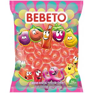 """Цукерки жувальні Bebeto """"Кавунові кільця"""" 1 кг (8690146632917)"""