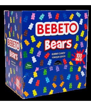 """Цукерки жувальні Bebeto""""Ведмедики""""8 г x 100шт. (8690146144052)"""