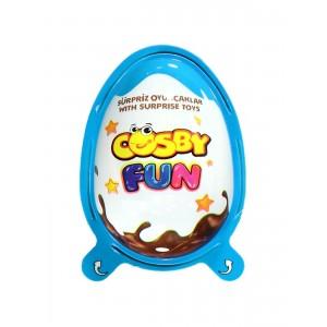 Яйце з молочним і шоколадним кремом з Кріпс COSBY з сюрпризом, для хлопчиків 20г (8681161445668)