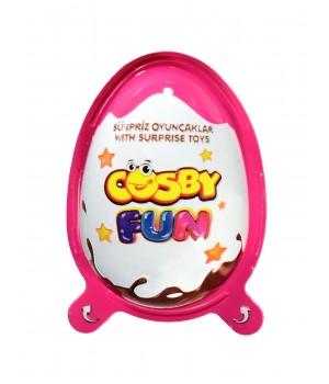 Яйце з молочним і шоколадним кремом з Кріпс COSBY з сюрпризом, для дівчаток 20г (8681161446887)