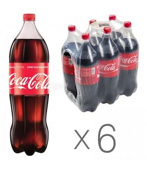 Напій газований Coca-Сola 2 л x 6 шт.  (5449000009067)