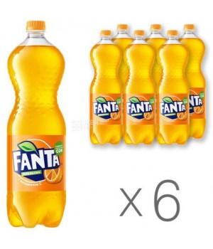 Напій газований Fanta Апельсин 1,5 л x 6 шт. (5449000052926)