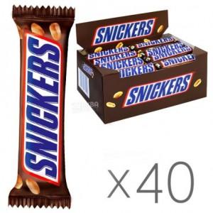 Батончик Snickers з арахісом у молочному шоколаді 50г x 40шт. (5000159461122)