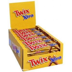 Батончик Twix Extra с печенье и карамелью в молочном шоколаде 75г x 20шт. (5900951028502)