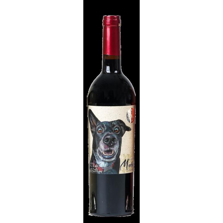 Вино Dog Smile МERLOT COTNAR червоне напівсухе 0,75 л