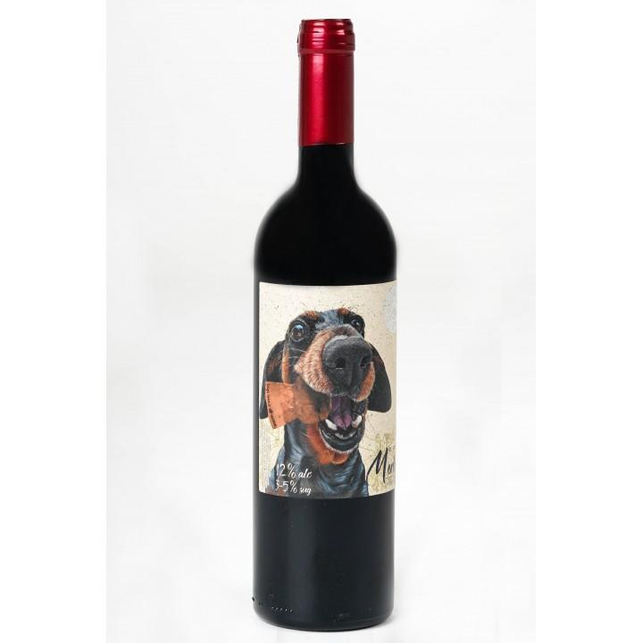 Вино Dog Smile МERLOT COTNAR червоне напівсолодке 0,75 л