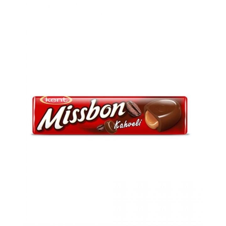 Цукерки льодяники Missbon з кавовою начинкою 43г (8690515116314)