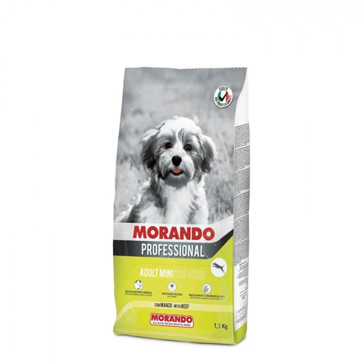 MORANDO PROFESSIONAL ADULT MINI PRO-VITAL сухий корм з яловичиною, 1,5кг (8007520098045)