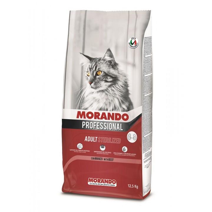 MORANDO PROFESSIONAL STERILIZED Повноцінний сухий корм  з яловичиною, 12,5 кг (8007520099271)