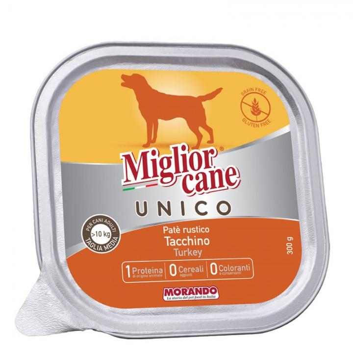 MІGLIORCANE UNICO ADULT MEDIUM паштет з індичкою, 300г (8007520024457)