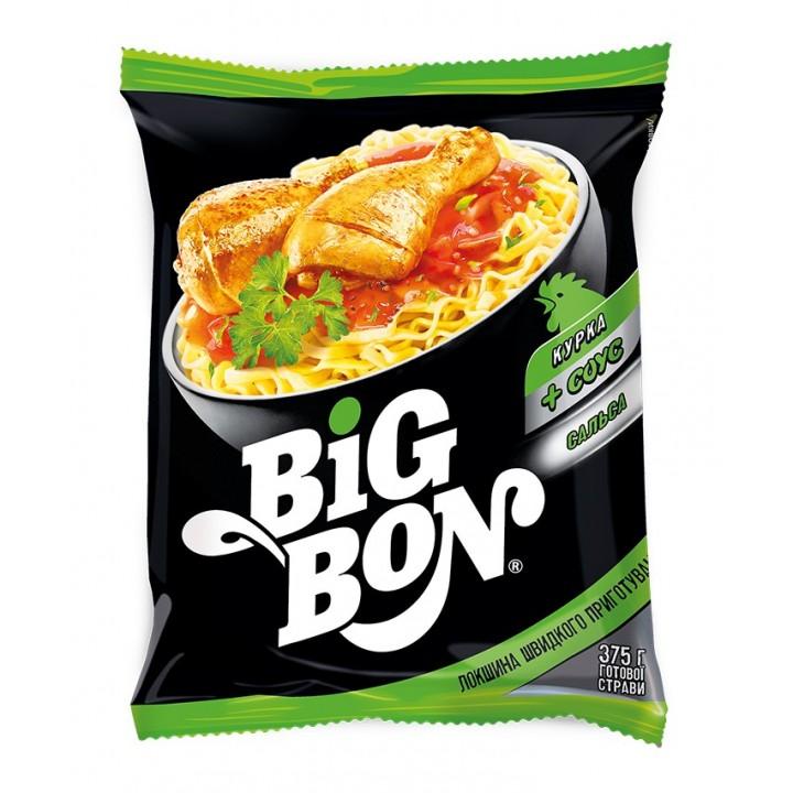 Локшина швидкого приготування Big Bon Курка + Соус Сальса 75 г (4820179253122)