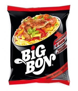 Локшина швидкого приготування Big Bon Яловичина з томатним соусом і базиліком 75г  (4820179253139)