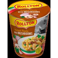 Вироби макаронні швидкого приготування Rollton Instant Pasta З грибами стакан 70г (4820179255041)