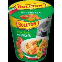 Вироби макаронні швидкого приготування Rollton Instant Pasta З куркою стакан 70г (4820179255737)